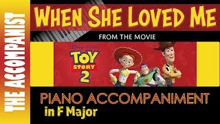 When She Loved Me From The Movie 39 Toy Story 2 39 Piano Accompaniment Karaoke