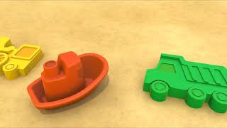 ROAD ROLLER! - Sand Pit Toys Compilation - Kids Construction - Best Learning videos for ki