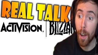 """Asmongold Watches """"Real Talk About The Blizzard Staff Massacre"""" by Taliesin & Evitel"""