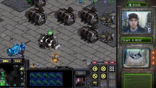 StarCraft Remastered 1v1 (FPVOD) Artosis (T) vs bluehofchicken (P) Benzene