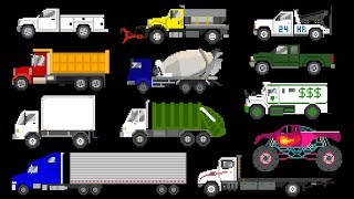 Trucks: Book Version - Street Vehicles - The Kids' Picture Show (Fun & Educational Learning Video)