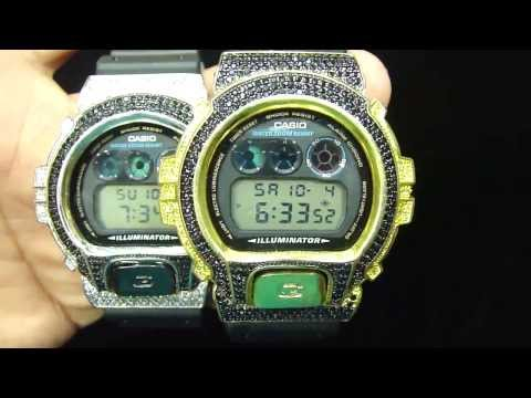 GShock G Shock Custom Lab Diamond Canary Gold Black And white DW6900 : GS612