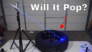 Can You Pop a Car Tire With a Burning Laser?