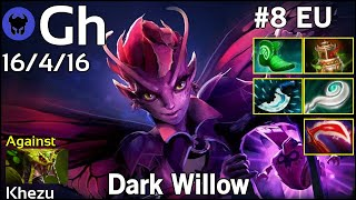 Support Gh [Liquid] plays Dark Willow!!! Ward spots shown! Dota 2 7.21