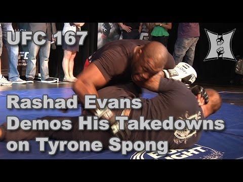UFC 167's Rashad Evans Demos Takedowns on Tyrone Spong (HD / Complete / Unedited) Image 1