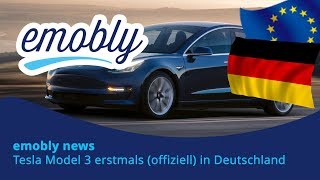 emobly news: Tesla Model 3 Premiere in Deutschland