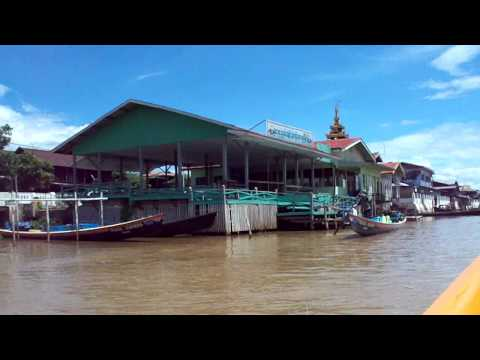 Boat ride from Nyaungshwe along main channel to Inle Lake
