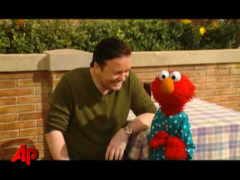 Gervais + Elmo = Hilarity on  Sesame Street
