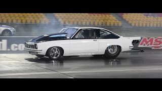 PROA9X DANDY ENGINES PROCHARGED TORANA 7.65 @ 189 MPH SYDNEY DRAGWAY 24.10.2014