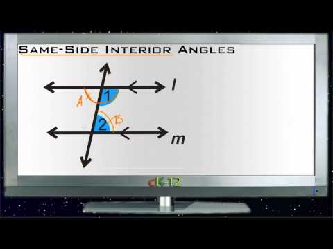 Same Side Interior Angles Principles - Basic
