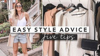 5 Easy Style Tips and Advice for Your Wardrobe | by Erin Elizabeth