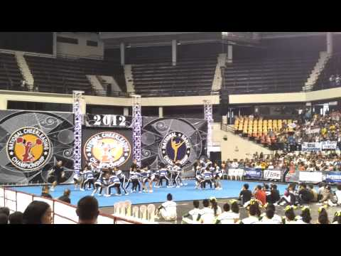 "Rizal High School ""Phoenix"" Pep Squad at NCC 2012 HS Coed Finals"