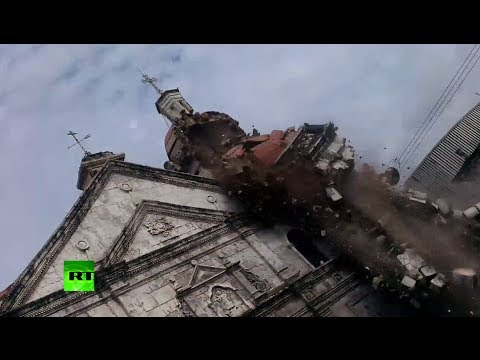 Devastating: Video of church crumbling as deadly earthquake hits Philippines