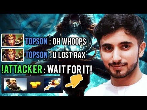 !Attacker vs New OG Trashtalker TOPSON - Divine Rapier Comeback vs Megacreeps Dota 2