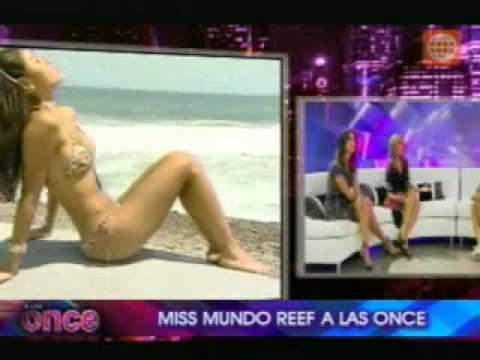 A las once - Miss Mundo Reef Betzaida Herrera de visita en Lima para participar en desfiles