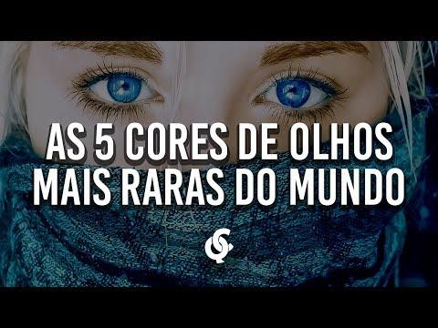 AS 5 CORES DE OLHOS MAIS RARAS DE TODOS OS TEMPOS