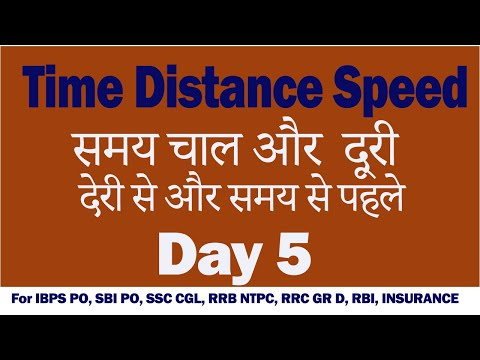 Time and distance Day 5 by Bankexamcafe / SSC CGL, RRB NTPC, Ctet, KV TGT PGT, Bank Clerk