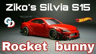 Ziko's Nissan Silvia S15 Rocket Bunny Hot wheels Custom