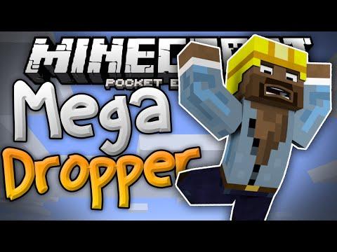 SKYDIVING in MCPE!!! - Mega Dropper Mini Game - Minecraft PE (Pocket Edition)