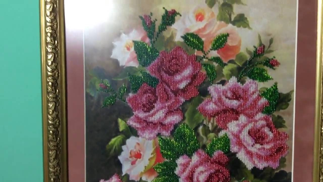 Вышивка розовая элегия 47