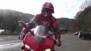 A winter ride in the Peak District - Ducati 748 and 899 Panigale - Snake Pass and Cat and Fiddle