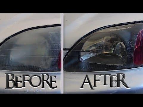 How To Restore/Clean Civic EK Headlights In Home DIY