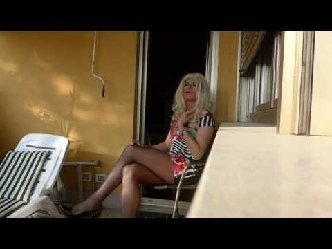 Misscorinnetrav, Blonde Transvestite With A New Dress