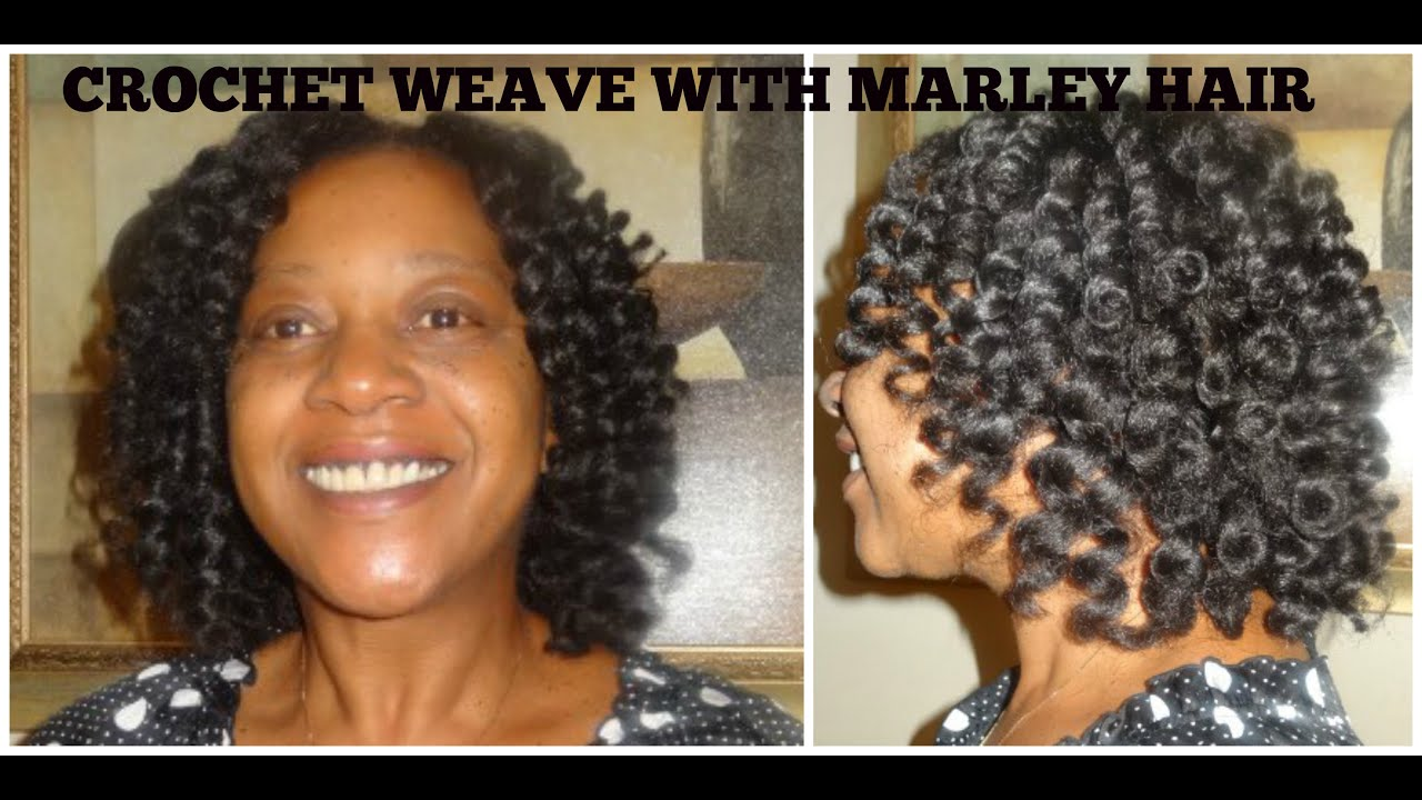 Crochet Braids Hair Youtube : Crochet Weave with Marley Braiding Hair - YouTube