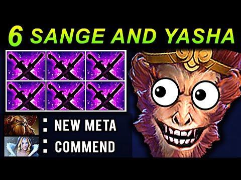 6 SANGE AND YASHA MONKEY KING DOTA 2 PATCH 7.07 NEW META PRO GAMEPLAY