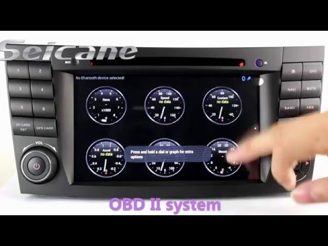 2002-2008 Mercedes E-Class W211 radio removal Upgrade for aftermarket GPS car bluetooth cd radio