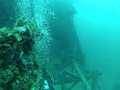 Wreck dive: USS Duane, Key Largo, FLA   March 2013