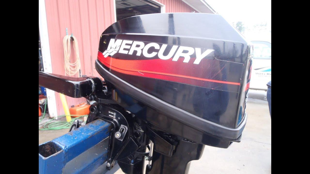 6m3c98 Used 2002 Mercury 15ml 15hp 2 Stroke Tiller