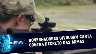 14 Governadores divulgam carta aberta contra decreto das armas | SBT Brasil (21/05/19)