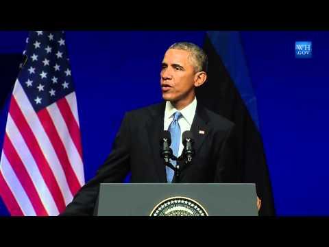 Obama Condemns Russian Agression In Ukraine- Full Speech In Estonia