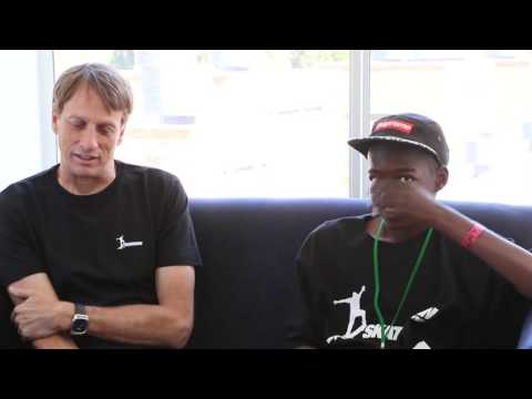 Teaser: Student Reporters: Jimi and Lucky Meet Tony Hawk