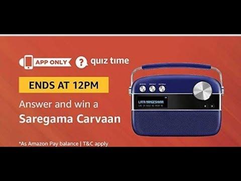 Amazon Quiz answers today| Win saregama carvaan| 4 Dec 2018