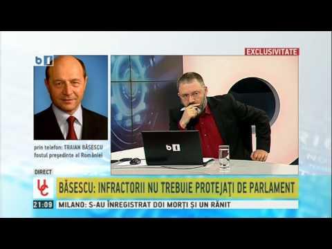 Traian Basescu despre afirmatiile lui Kovesi Sunt de acord cu eliminarea unui tip de imunitate