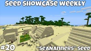 "Minecraft 1.4.7 || ""SeaNanners"" Seed Showcase || Jungle Temple! Desert NPC Village"