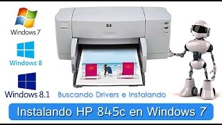 Instalando impresora  hp deskjet 845c en Windows 7