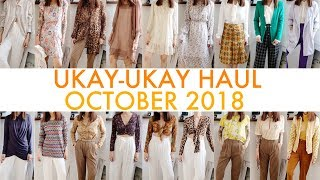 UKAY-UKAY HAUL | Oct. 2018 | Cropped tops, high-waist pants & more!