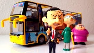 mr bean and friends in the city bus