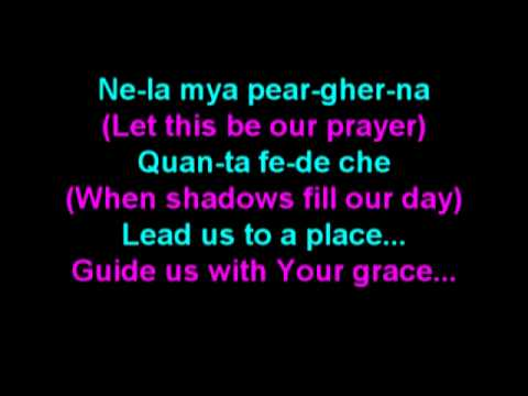 The Prayer (Italian Phonetic): Track - Low Bb