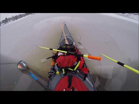 Is padling  i vansjø fra Myra 12012017