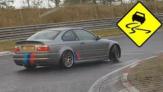 When it Rains at the Nürburgring! Drifts, Fails & LOTS of BMW's! Pt2