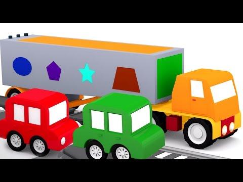 Развивающий мультфильм - 4 машинки - Геометрические фигуры для детей