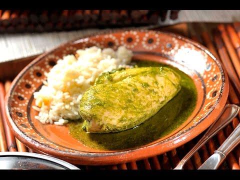 Receta: Pechugas de pollo con salsa de cilantro