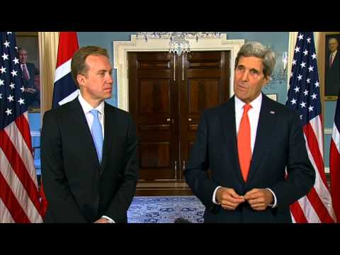 Secretary Kerry Delivers Remarks With Norwegian Foreign Minister Brende