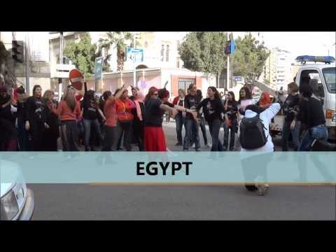 One Billion Rising for Justice Flash Mob in Egypt