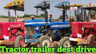 Mahindra 575 DI vs powertruck 445 vs New Holland 3600 DI Tractor with fully loaded Trailer / #CFV