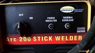 NORTHERN  Stick Welder 200 PRODUCT REVIEW independent great DEAL
